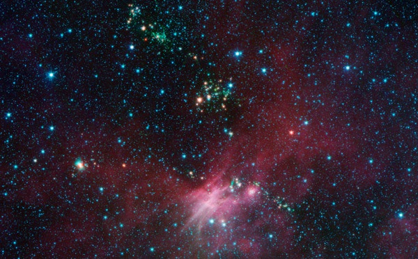 NASA's Spitzer Sees Milky Way's Blooming Countryside